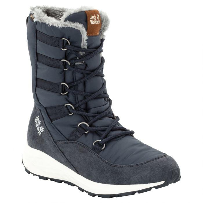 Damskie buty zimowe NEVADA TEXAPORE HIGH W dark blue off white