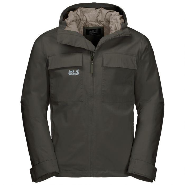 Męska kurtka przeciwdeszczowa WINTER RAIN JACKET M dark moss
