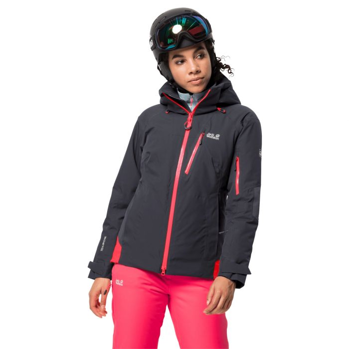 Kurtka Narciarska Damska Snow Summit Jacket W Ebony Szary E Horyzont