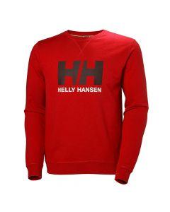 Męska bluza Helly Hansen Logo Crew Sweat flag red