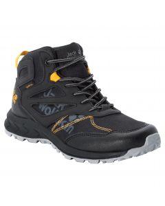 Buty nieprzemakalne dla dzieci WOODLAND TEXAPORE MID K black / burly yellow XT