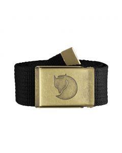 Pasek  do spodni Fjallraven Canvas Brass Belt black