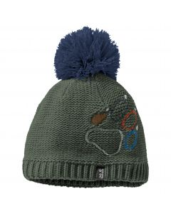 Czapka zimowa dziecięca PAW KNIT CAP KIDS Thyme Green