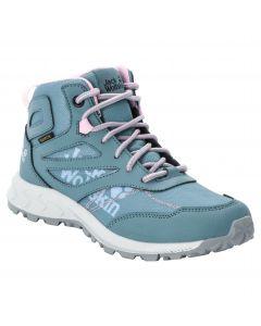Buty nieprzemakalne dla dzieci WOODLAND TEXAPORE MID K grey pink