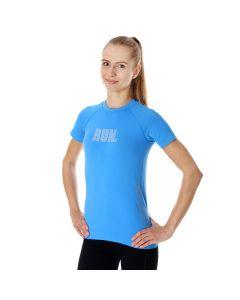 Damska koszulka do biegania Brubeck RUNNING AIR PRO SS13270 light blue