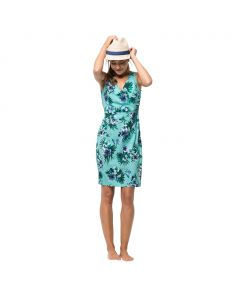 Sukienka WAHIA TROPICAL DRESS aqua all over
