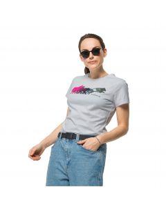 Damska koszulka z krótkim rękawem RAINBOW WOLF T W White Cloud