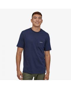 T-shirt Patagonia Line Logo Ridge Pocket Responsibili-Tee navy