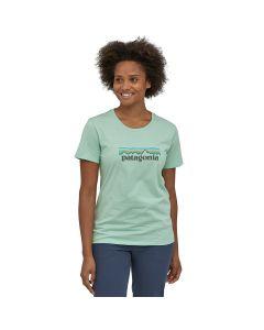 Damski T-shirt Patagonia Pastel Logo Organic gypsum green