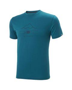 Koszulka męska Helly Hansen Skog Graphic T-shirt deep laguna