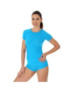 Termoaktywna koszulka damska Brubeck Active Wool SS11700 light blue
