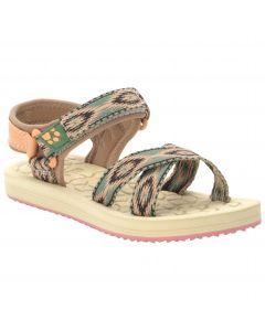 Sandały dla dziewczynki ZULU K beige / rose