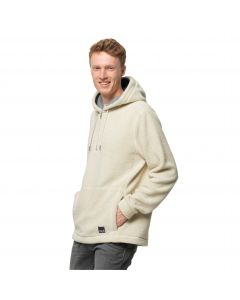 Bluza polarowa z kapturem męska NATURE LIFE HALFZIP M White Sand