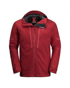 Kurtka męska przeciwdeszczowa SKEI TRAIL JKT red maroon