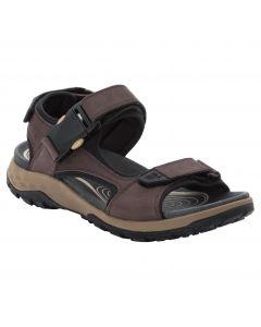 Sandały skórzane męskie ROCKY PATH LT SANDAL M dark brown / black