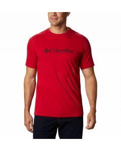 Koszulka męska Columbia CSC Basic Logo Tee red
