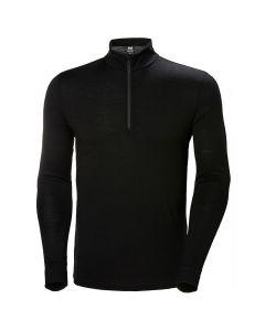 Męska bluza termiczna Helly Hansen Merino Mid 1/2 Zip black