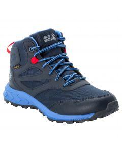Buty dziecięce WOODLAND TEXAPORE MID K Dark Blue / Red