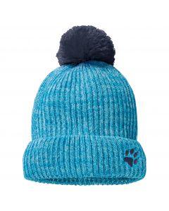 Czapka z pomponem dziecięca SNOW BALL CAP KIDS Curacao Blue