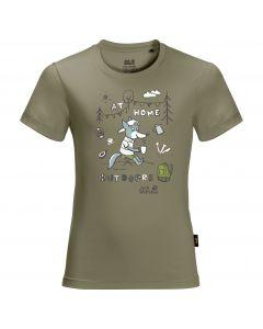Koszulka dziecięca HAPPY CAMPER T KIDS khaki