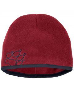 Czapka zimowa dla dzieci BAKSMALLA FLEECE HAT KIDS dark lacquer red