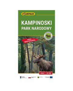 Mapa turystyczna Compass KAMPINOSKI PARK NARODOWY 1:50 000 laminowana