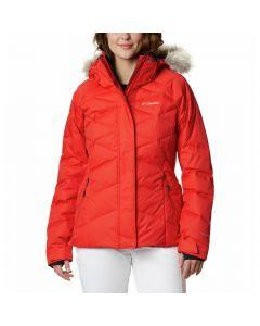 Damska kurtka puchowa Columbia Lay D Down™ II Jacket bold orange dobby