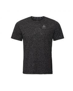 Koszulka do biegania Odlo Run Easy Linencool SS black melange