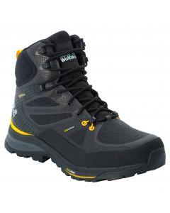 Buty trekkingowe FORCE TREKKER TEXAPORE MID M Black / Burly Yellow Xt