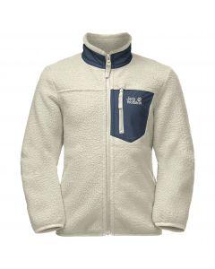 Bluza polarowa dziecięca ICE CLOUD JACKET K White Sand