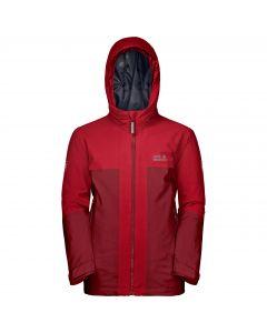 Chłopięca kurtka narciarska POWDER MOUNTAIN JACKET BOYS dark lacquer red
