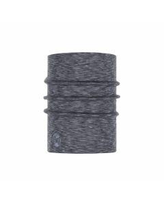 Chusta Buff Merino Heavyweight Neckwarmer fog grey/multi stripes