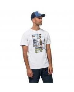 T-shirt męski LAKE MORNING T M white rush