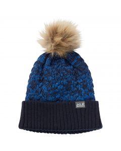 Czapka z pomponem dziecięca KNIT POMPOM CAP KIDS night blue