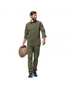 Męska koszula LAKESIDE ROLL-UP SHIRT M woodland green