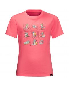 T-shirt dziecięcy MANY WOLVES T KIDS coral pink