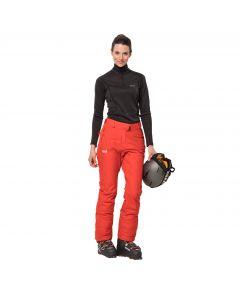Spodnie narciarskie damskie POWDER MOUNTAIN PANTS W orange coral