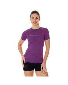 Damska koszulka do biegania Brubeck 3D PRO RUN SS12030 purple