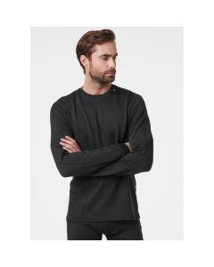 Męska koszulka termoaktywna Helly Hansen Lifa Merino Lightweight Crew black