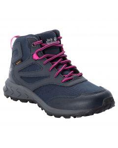 Buty dziecięce WOODLAND TEXAPORE MID K Dark Blue / Pink