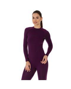 Damska bluza Brubeck Thermo LS13100 purple