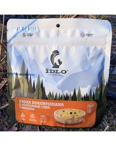 Liofilizat Idlo KASZA KUKURYDZIANA Z CHIA I MAKIEM 100g (na porcję 350 ml, 355 kcal)