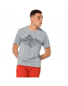 T-shirt męski CROSSTRAIL GRAPHIC T M silver grey