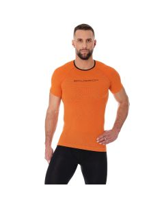Męska koszulka do biegania Brubeck 3D PRO RUN SS11920 orange