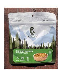 Liofilizat Idlo TURECKI BULGUR Z WARZYWAMI 90g (na porcję 350 ml, 313 kcal)