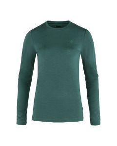 Koszulka termoaktywna Fjallraven Abisko Wool LS arctic green