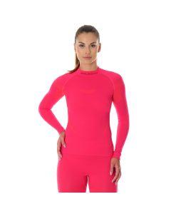 Koszulka termoaktywna Brubeck Thermo LS13100 raspberry