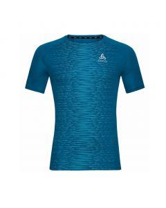 Koszulka Odlo Essential Print T-shirt mykonos blue/graphite