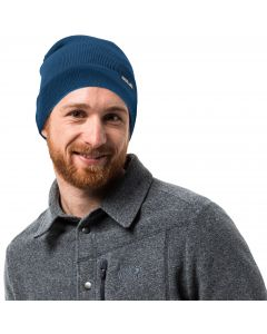 Czapka Jack Wolfskin RIB HAT indigo blue