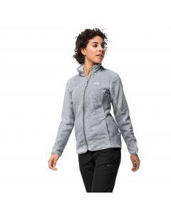 Kurtka polarowa damska PINE LEAF JACKET WOMEN slate grey stripes